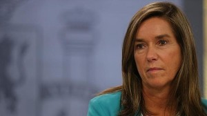 Ana Mato. Ministra de Sanidad, Servicios Sociales e Igualdad.