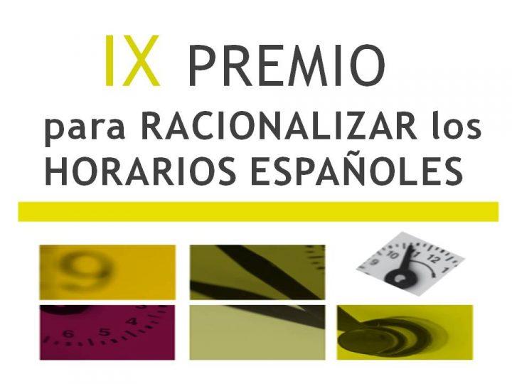 IX Premio para Racionalizar los Horarios Españoles.