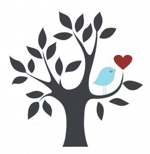 árbol y pájaro