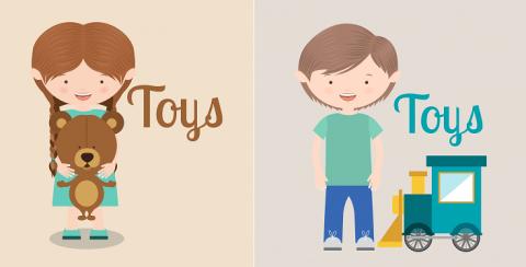 juguetes niño y niña