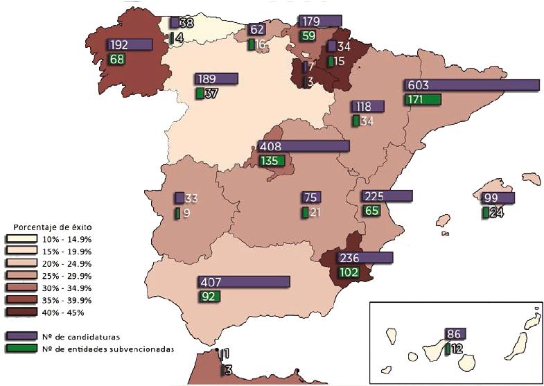 Mapa subvenciones
