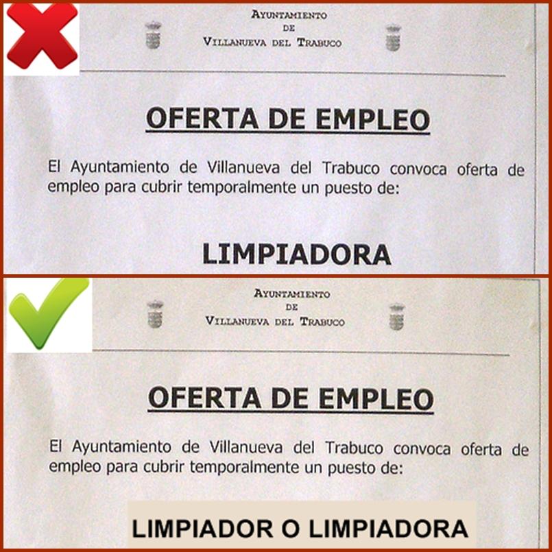 Ofertas de empleo p blico tambi n son para las mujeres - Oferta de trabajo ...