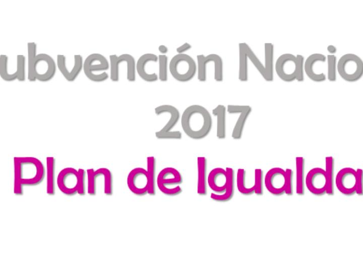 Nueva convocatoria de Subvención Nacional 2017 destinada a Planes de Igualdad para empresas