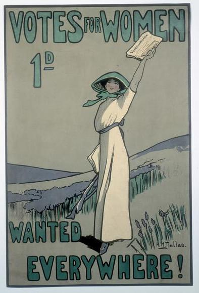 Conmemoración del centenario del voto femenino en Reino Unido