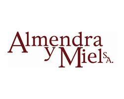 logotipo almendra y miel