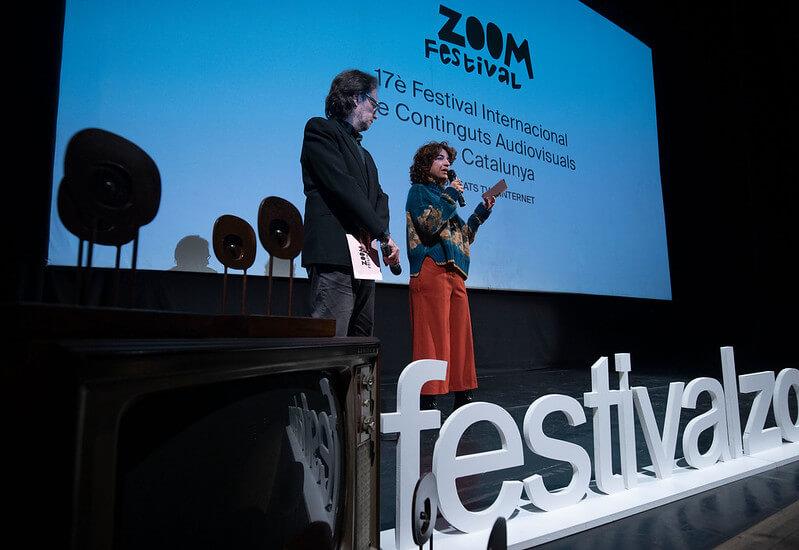 Momento con los organizadores de una pasada edición del Festival Zoom